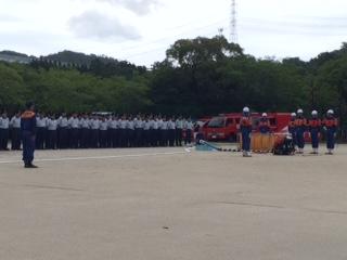 知県消防操法大会に出場します   出場激励会に参加をしました レベルの高い操法で練習の積み重ねが見てとれます   8月5日の県大会 碧南市にも駆けつけます
