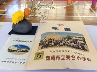 トです その後 岡崎市立美合小学校卒業証書授与式に出席をしました 77名が新たなステージに向かって巣立っていきました 新年度新入生が44名を予定とのことで少々残念ですね