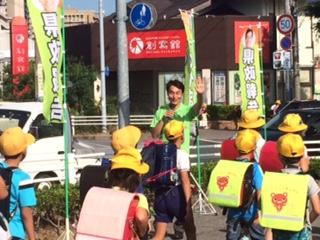 でスタートしました ここでの県政報告は初めてです 交通安全の立ち番の皆さん お疲れ様です! 岡崎市から交通死亡事故ワーストワン返上を目指しましょう!!